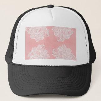 Pink Vintage Geode Pattern Trucker Hat