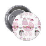 Pink Vintage Its A Girl 2 Inch Round Button