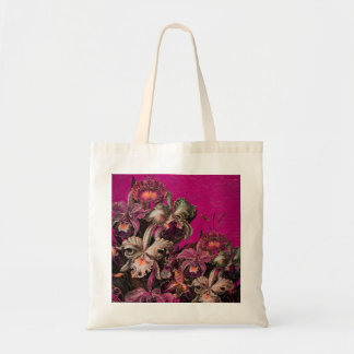 Pink Vintage Oil Brush Painting Budget Tote Bag