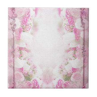 pink  vintage  old style tiles