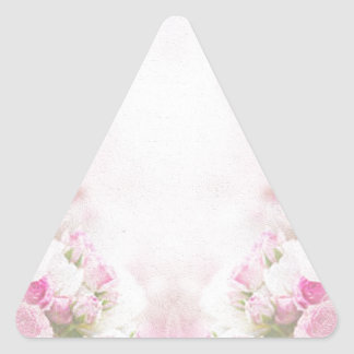 pink  vintage  old style triangle sticker