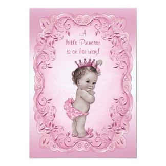 Pink Vintage Princess Baby Shower Card