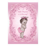 Pink Vintage Princess Baby Shower Personalized Announcement