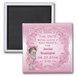 Pink Vintage Princess Baby Shower Save the Date