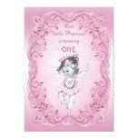 Pink Vintage Princess Ballerina 1st Birthday Party