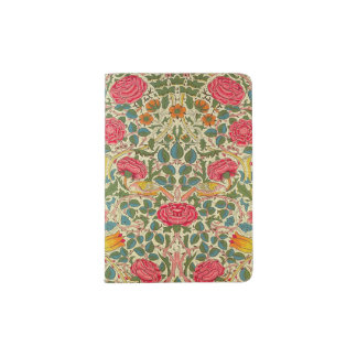 Pink Vintage Rose Chintz pattern Passport Holder