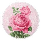 Pink vintage rose girly ceramic knob