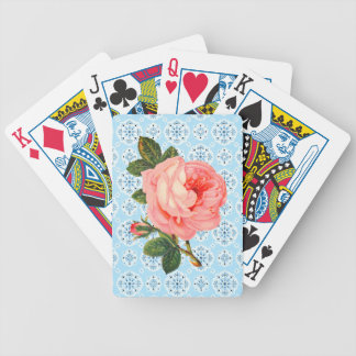 Pink Vintage Rose Playing Cards