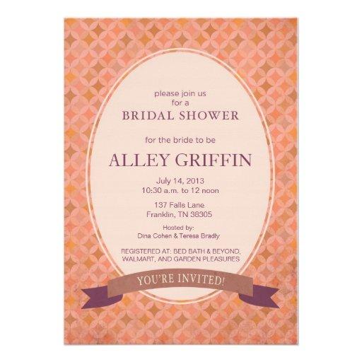 Pink Vintage Wedding Shower Invitation