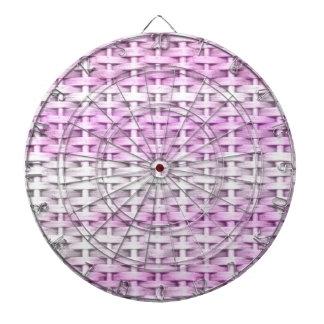 Pink vintage wicker art graphic design dartboards