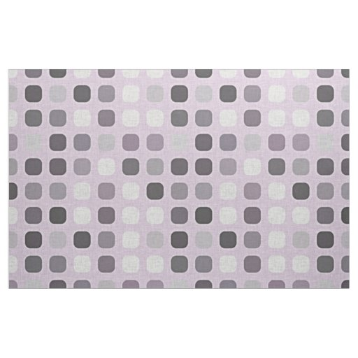 Pink Violet Purple Retro Chic Round Square Pattern Fabric