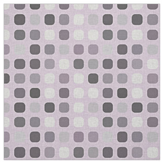 Pink Violet Purple Retro Chic Round Square Pattern Fabric