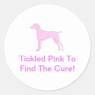 Pink Vizsla Classic Round Sticker