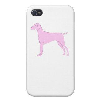 Pink Vizsla iphone Hard Cover Case iPhone 4/4S Case