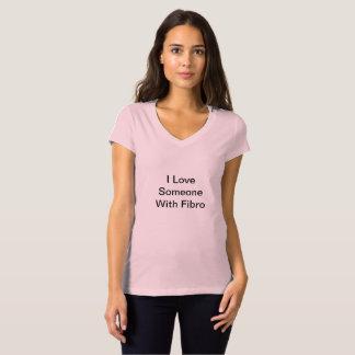 Pink VNeck Shirt for Fibromyalgia Awareness