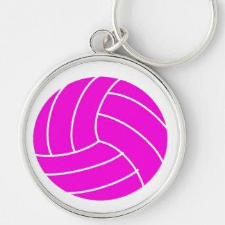 Pink Volleyball Keychain