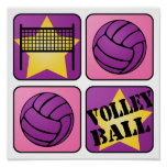 Pink Volleyball Print