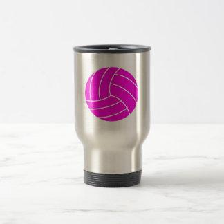 Pink Volleyball Travel Mug