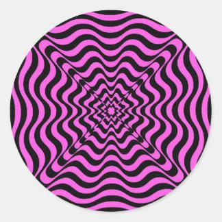 Pink Vortex Classic Round Sticker