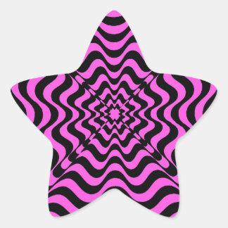 Pink Vortex Star Sticker