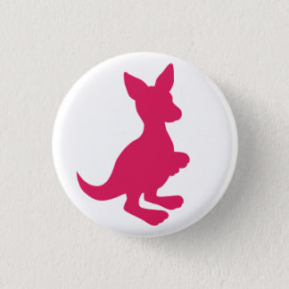 Pink Wallaby Button