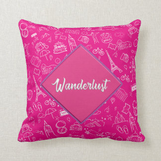 Pink Wanderlust Pillow