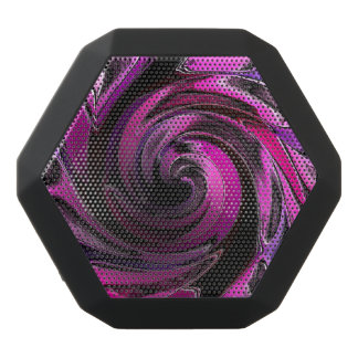 Pink Warp  Design Black Bluetooth Speaker