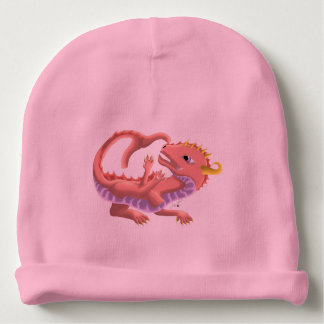 Pink Water Baby Dragon Hat Baby Beanie