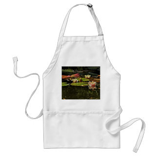 PINK WATER LILIES IN SPRING BLOOM STANDARD APRON