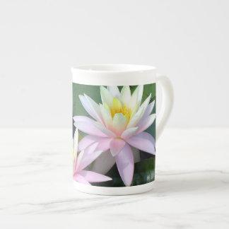 Pink Water Lilies Tea Cup