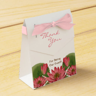 Pink Water Lily Favor Box