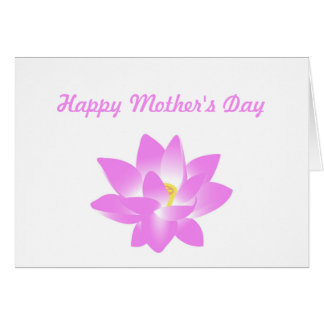 Pink Water Lily Floral Happy Mother's Day Card