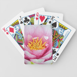 PInk water lily flower Bicycle Playing Cards