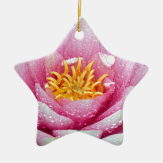 PInk water lily flower Ceramic Ornament