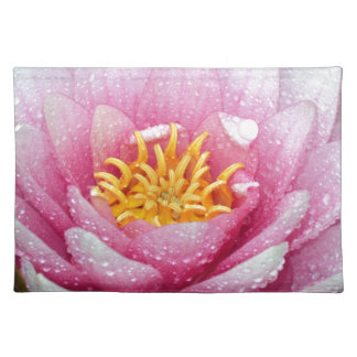 PInk water lily flower Placemat
