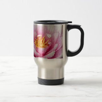 PInk water lily flower Travel Mug