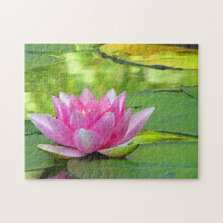 Pink Water Lily Lotus Flower Puzzle