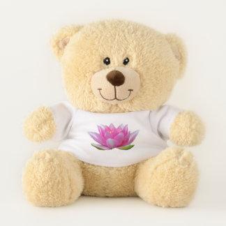 Pink Water Lily Lotus Flower Teddy Bear
