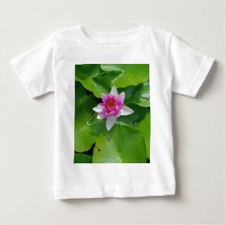 Pink Water Lily On Green Pads Photography Baby T-Shirt