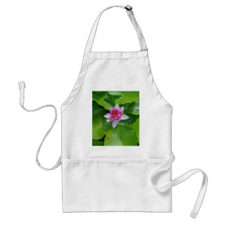 Pink Water Lily On Green Pads Photography Standard Apron