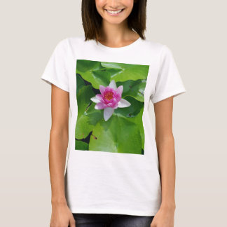 Pink Water Lily On Green Pads Photography T-Shirt