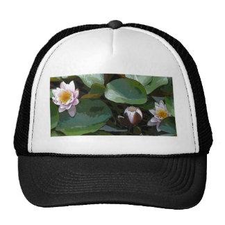 Pink Water Lily-pad Art Trucker Hat