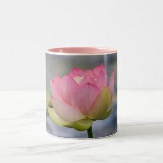 Pink Water Lily Two-Tone Coffee Mug
