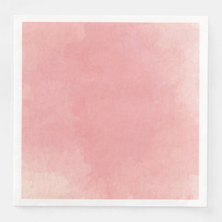 Pink Watercolor Abstract Art Paper Napkins