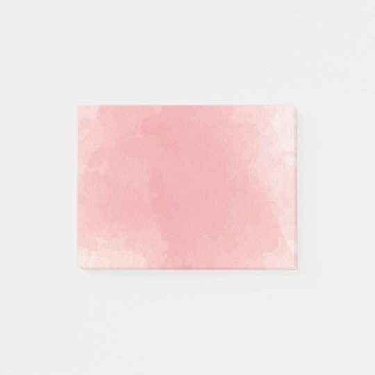 Pink Watercolor Abstract Post-it® Notes 4 x 3