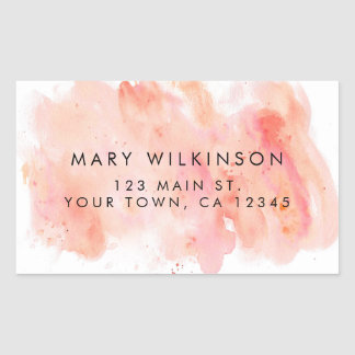 Pink Watercolor Background Sticker