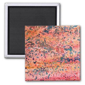 Pink Watercolor Background Texture Design Custom Magnet
