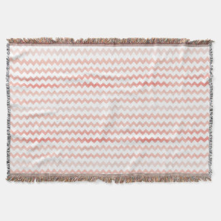Pink Watercolor Chevron Zigzag Pattern Throw