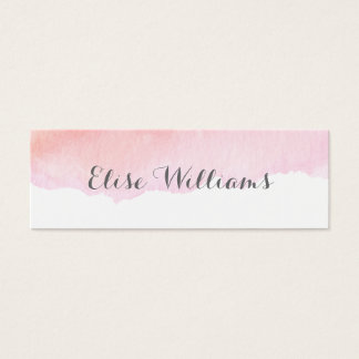 Pink Watercolor Contact Card
