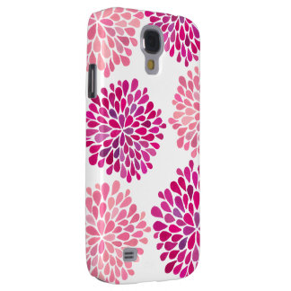 Pink Watercolor Dahlia Floral Flower Fine Art